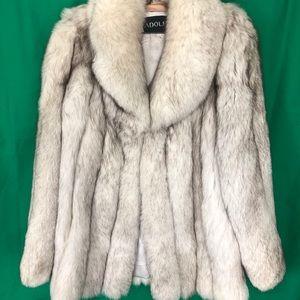 Adolfo statement saga fox fur jacket size 12